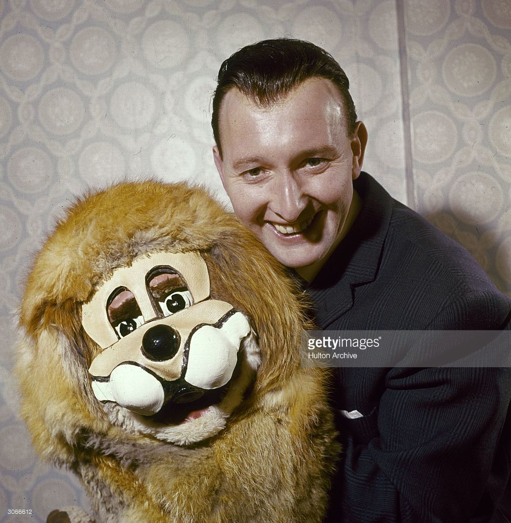 TV ventriloquist Terry Hall with his animal puppet Lenny the Lion ...