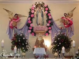 Resultado De Imagen Para Decoracion Altar Dela Virgen Maria