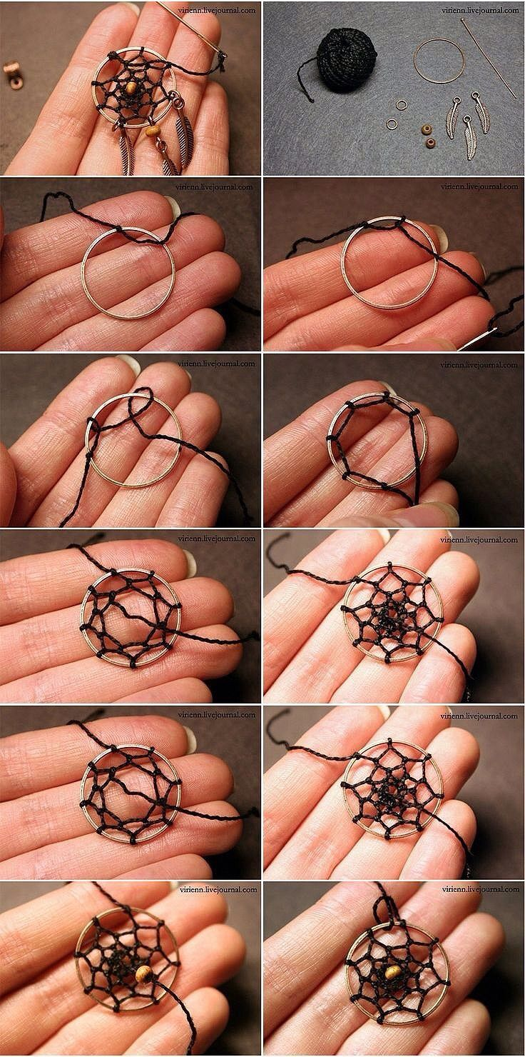 This is very easy. It's a dream catcher a little one and you don't need a lot of stuff