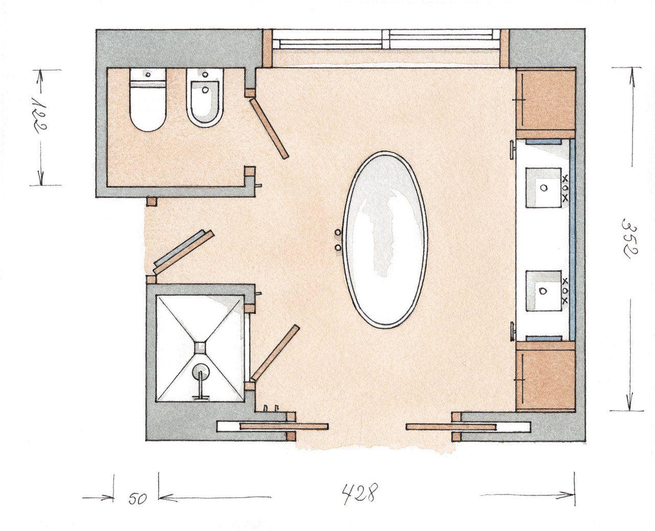 Con la calidez de la madera | Diseño de baños modernos ...