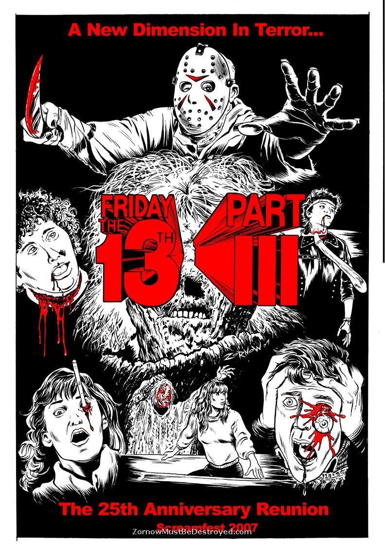 Friday the 13th iii 1982 horror movie art horror
