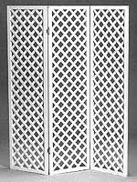Lattice Room Divider 3 Panels Hinged In Accordian Style Fold Flat Available In