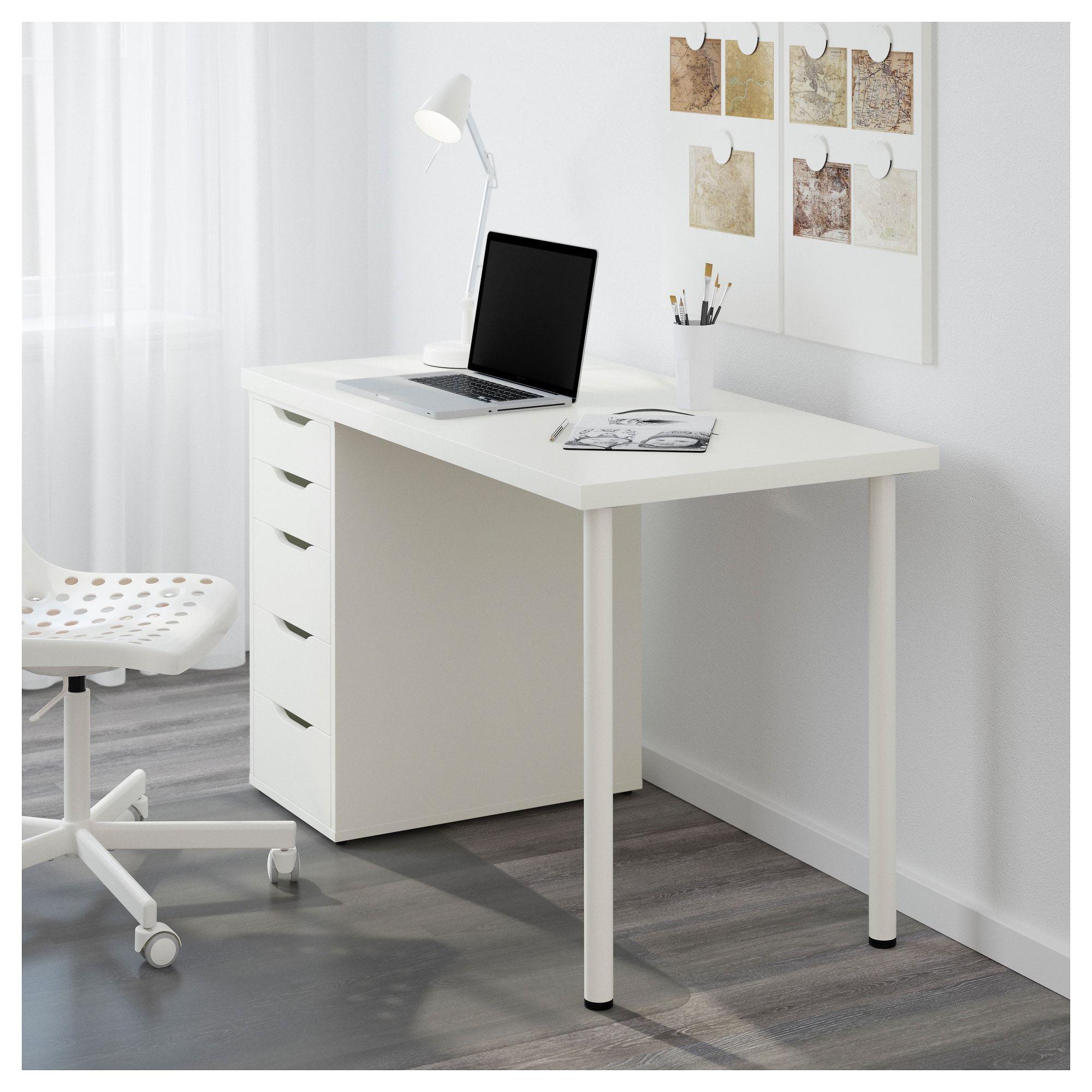 Linnmon Alex Table White 47 1 4x23 5 8 Ikea White Bedroom Furniture Bedroom Decor Design Remodel Bedroom