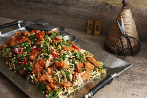 Robyn's Asian Salad with Slow Roast Pork & Crispy Crackling Recipe