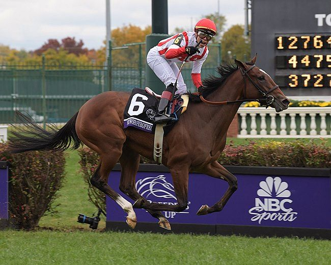 Newspaperofrecord Wins The Breeders Cup Juvenile Fillies