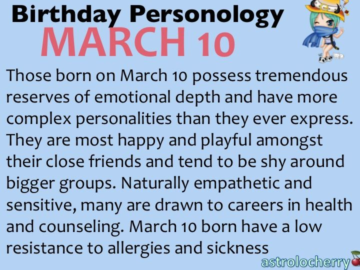 Tips for Pisces born on March 10