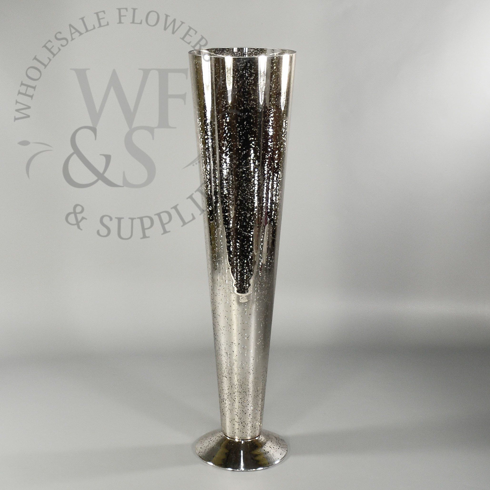 Silver mercury glass pilsner vase 1975 looking for inexpensive mercury glass vases for your wedding centerpieces shop our tall pilsner shape with wholesale pricing and a classic vintage look floridaeventfo Image collections