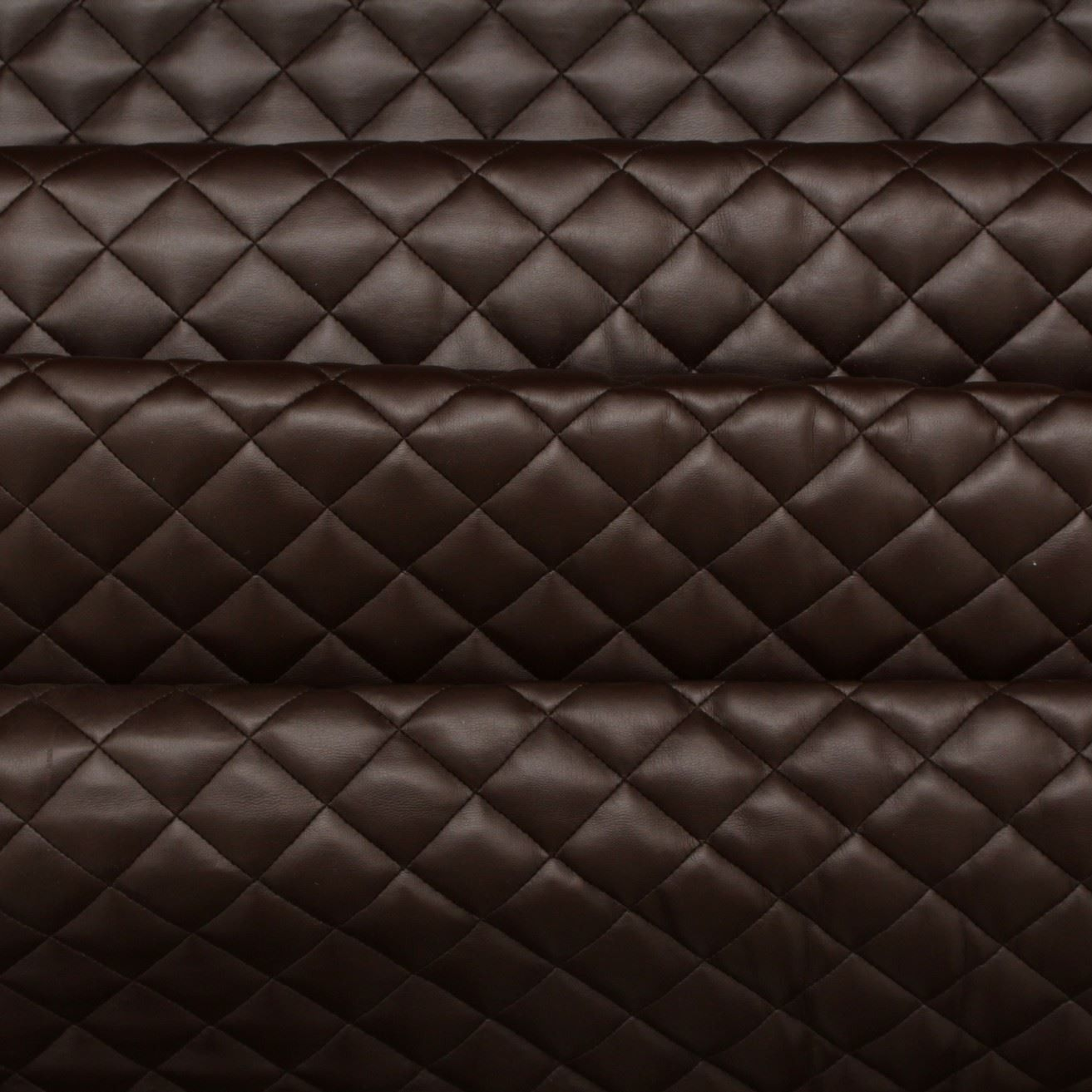 Diamond Quilted Padded Faux Leather Fabric Leather