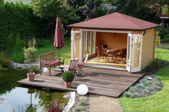 Gartenhaus Sunshine ISO mit großer Falttür in 2020