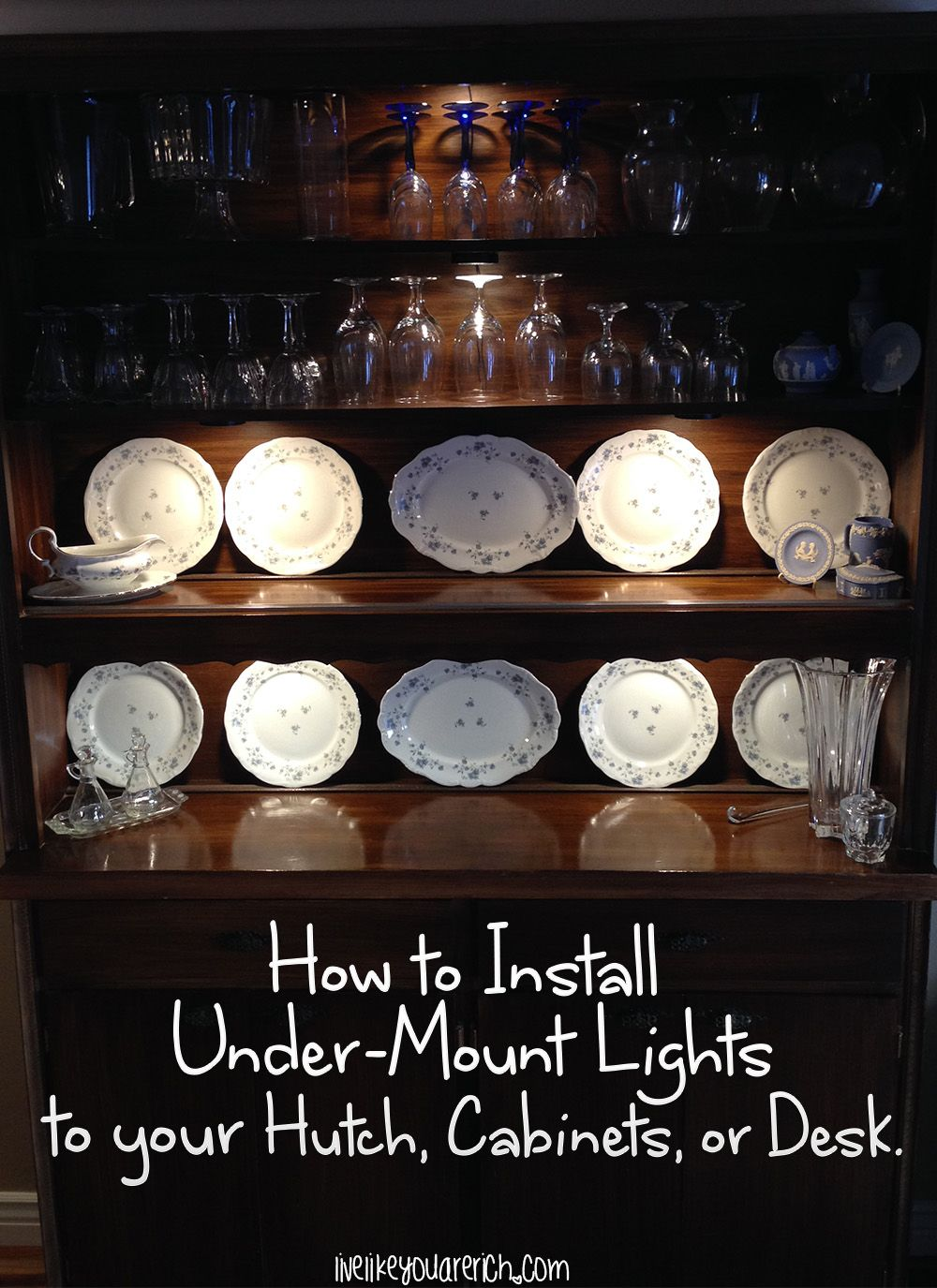 How to Install Under-Mount Lights on Your Hutch, Cabinets, Desk, etc ...
