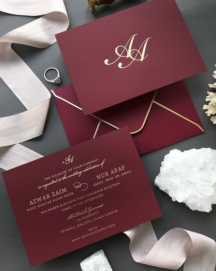 Sometimes We Get Lucky With A Bride That Allow Us To Work With Our Dream Material Design Provided By The Bride Wedding Invitations Invitations Wedding Cards