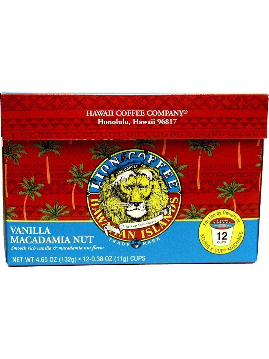 Hawaii coffee company lion coffee kcup single serve 12