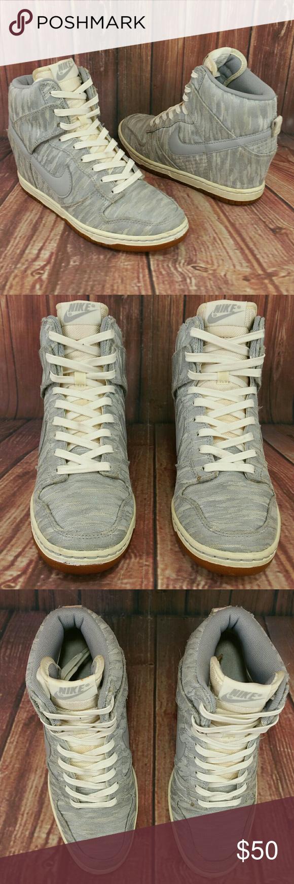 quality design 0976f 095f6 ... NIKE Dunk Sky Hi Premium Wedge Sail Silver Shoes 7 ...