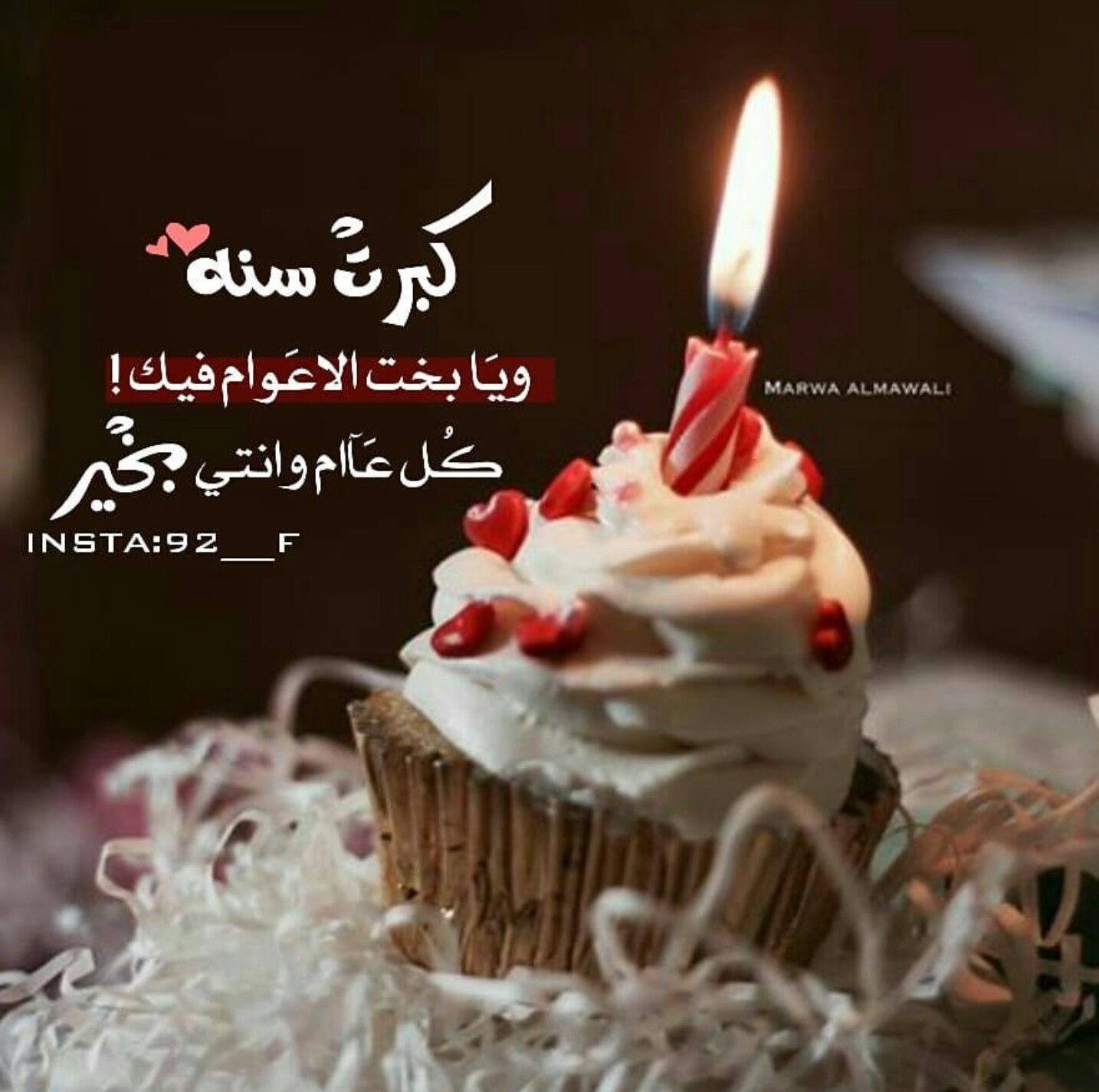 عيد ميلاد Happy Birthday Cupcakes Happy Birthday Quotes Happy Birthday Celebration