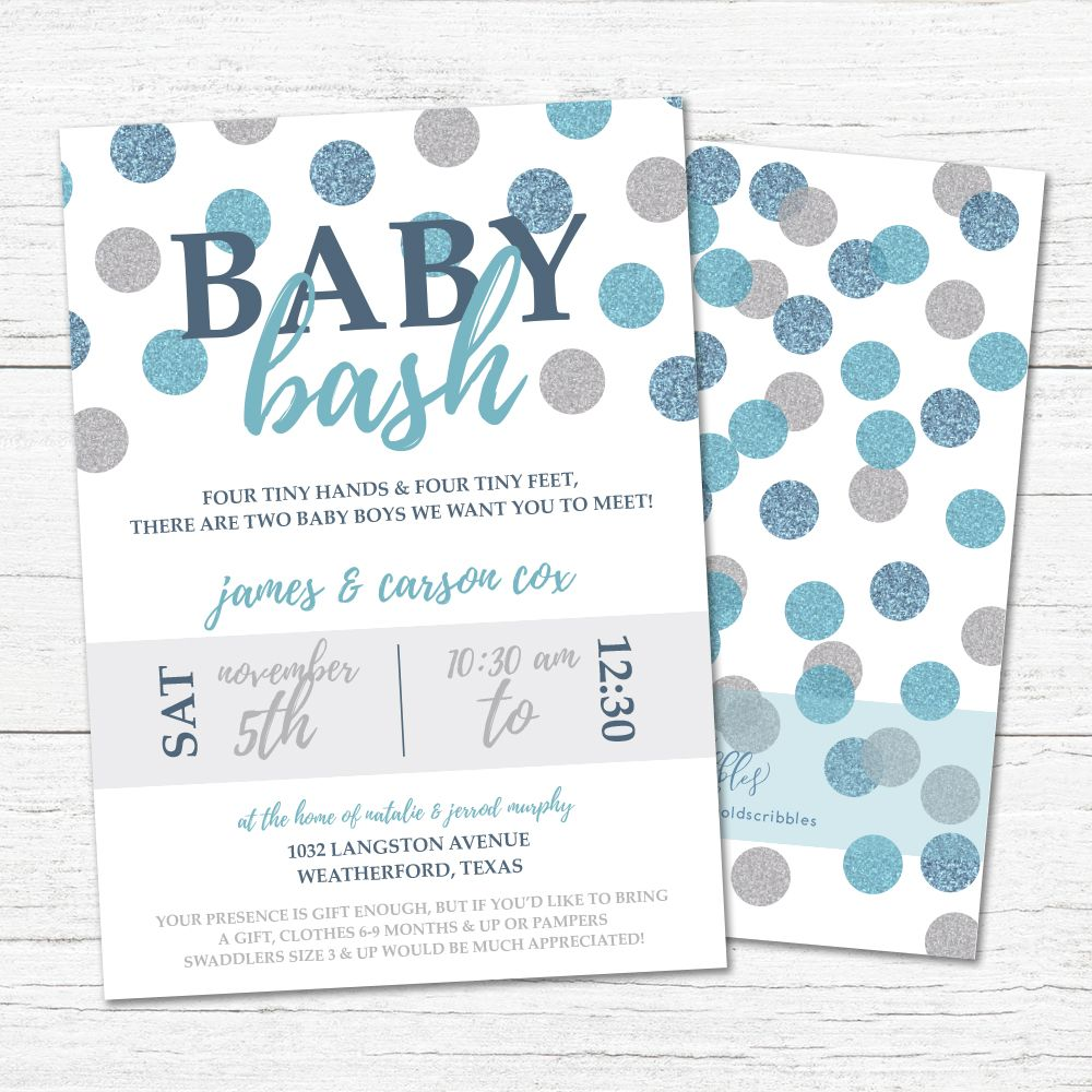 BABY BASH INVITE   Baby bash, Baby shower invitations, New baby products