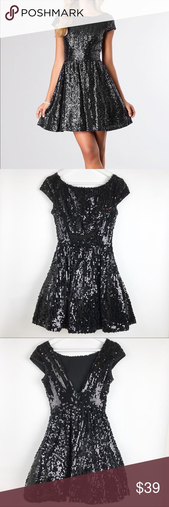 B darlin black lace dress  B Darlin Cap Sleeve Sequined Dress  Cap Conditioner and Customer