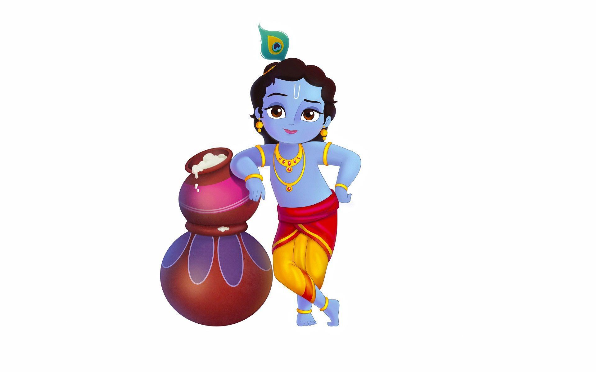 Cartoon Krishna Images Hd