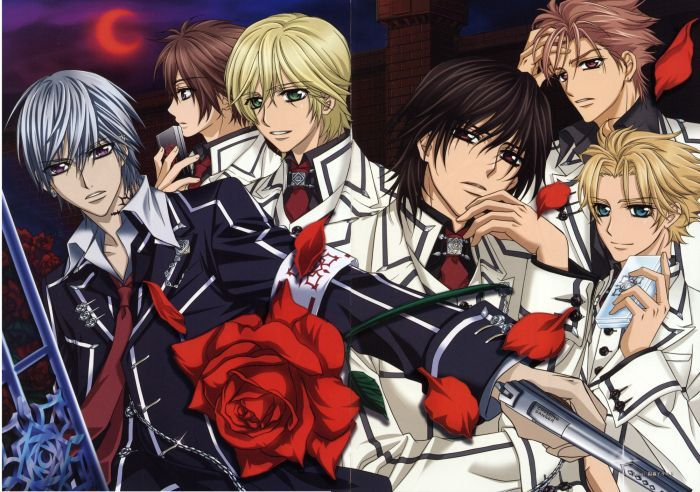 The English voice cast has been announced for Vampire Knight, the anime adaptation of Matsuri Hino's manga. Description from vampire-knight-cosplay-costumes.blogspot.com. I searched for this on bing.com/images