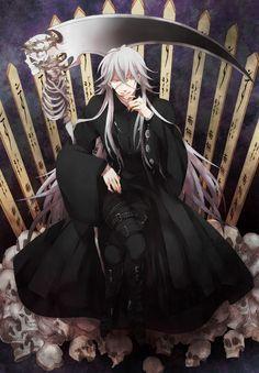 Kuroshitsuji Undertaker Shinigami Zerochan 943405 Black Butler Manga Reading