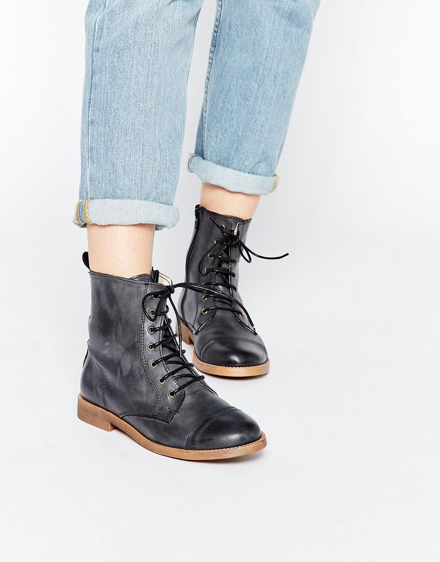 Park Lane Leather Worker Lace Up Ankle Boots | Clothes ...
