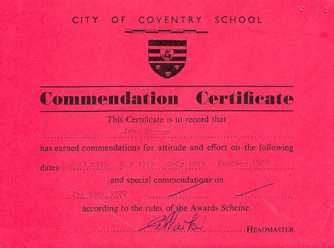 Pin By City Of Coventry Boarding School On Certificates Pinterest