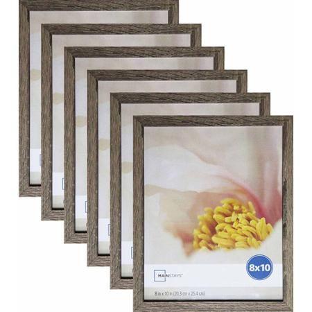 Mainstays Linear 8 X 10 Rustic Frame Set Of 6 Walmart Com