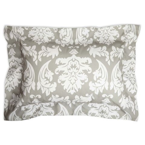 Gray Damask Pillow Sham Cover – Lolly Wolly Doodle
