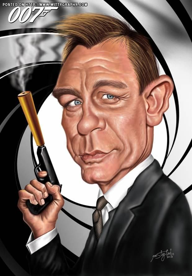 Daniel Craig As James Bond Funny Caricatures Celebrity