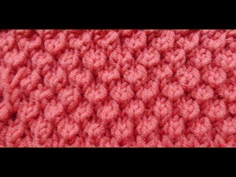 Knob Stitch) - Embossed Patterns - Free Knitting Patterns Tutorial ...