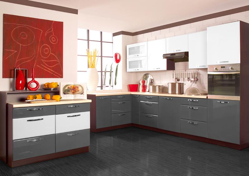 Kuchnia Lakierowana Szaro Biala Kitchen Home Decor Kitchen Cabinets
