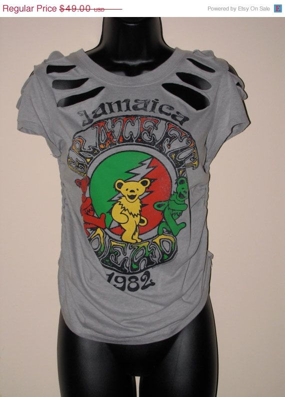 021a1919a25 CLEARANCE SALE priced -- light gray cut couture GRATEFUL Dead ...