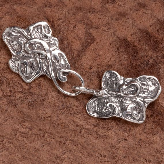 Sterling Silver Hand Crafted Swirl Hook and Eye by SantaMeSilver, $24.00