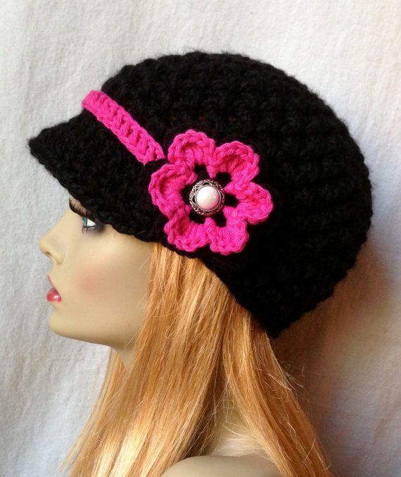 Vendedor de periódicos, sombrero, flor color de rosa negra, caliente ...