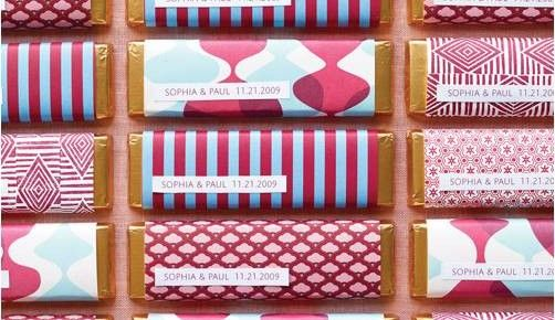 personalised chocolate bars for wedding favours