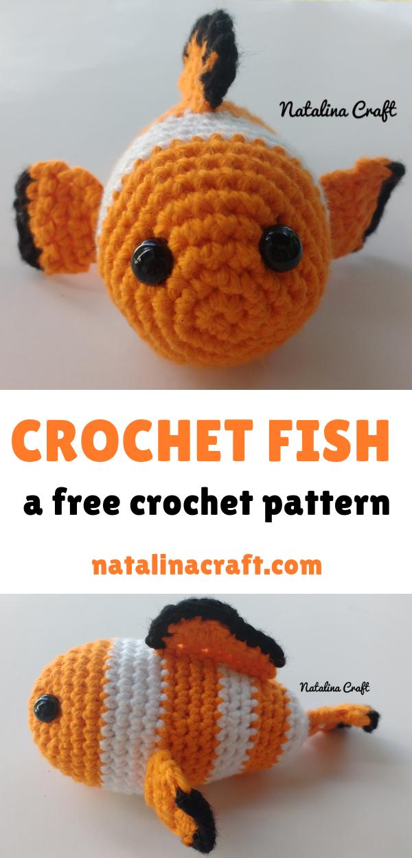 Fancy Crochet Goldfish Patterns {Video} | The WHOot | 1250x600