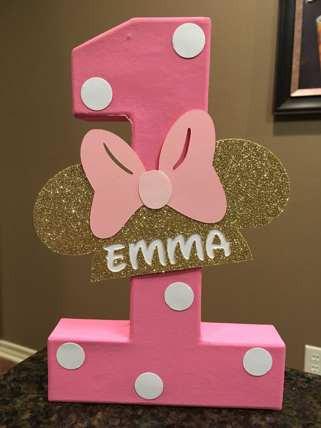 Minnie Mouse Custom Name Letters - price is per number