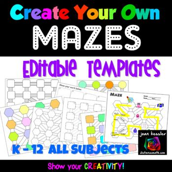 Create Your Own Maze Editable Template Bundle | Cool Stuff