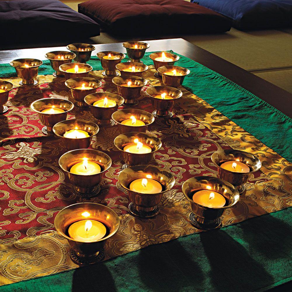 Vietnamese Wedding Altar: Offering Bowls, Altar Cloths