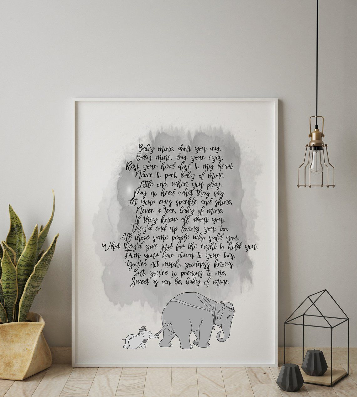 A4 Photo Frame Gift Baby of mine Disney Dumbo Quote