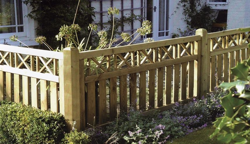 Elite Cross Top Border Deck Panel Garden Gates Fencing