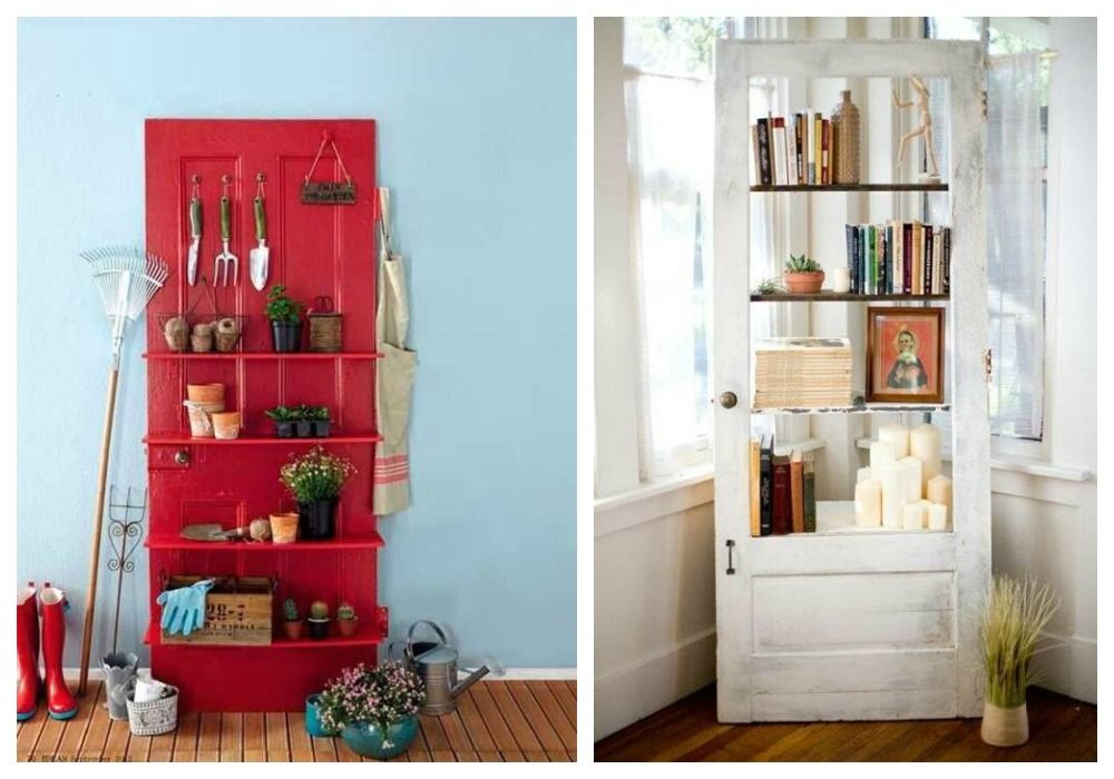 Reciclaje de puertas de puerta estanter as y reciclaje for Reciclar puertas antiguas