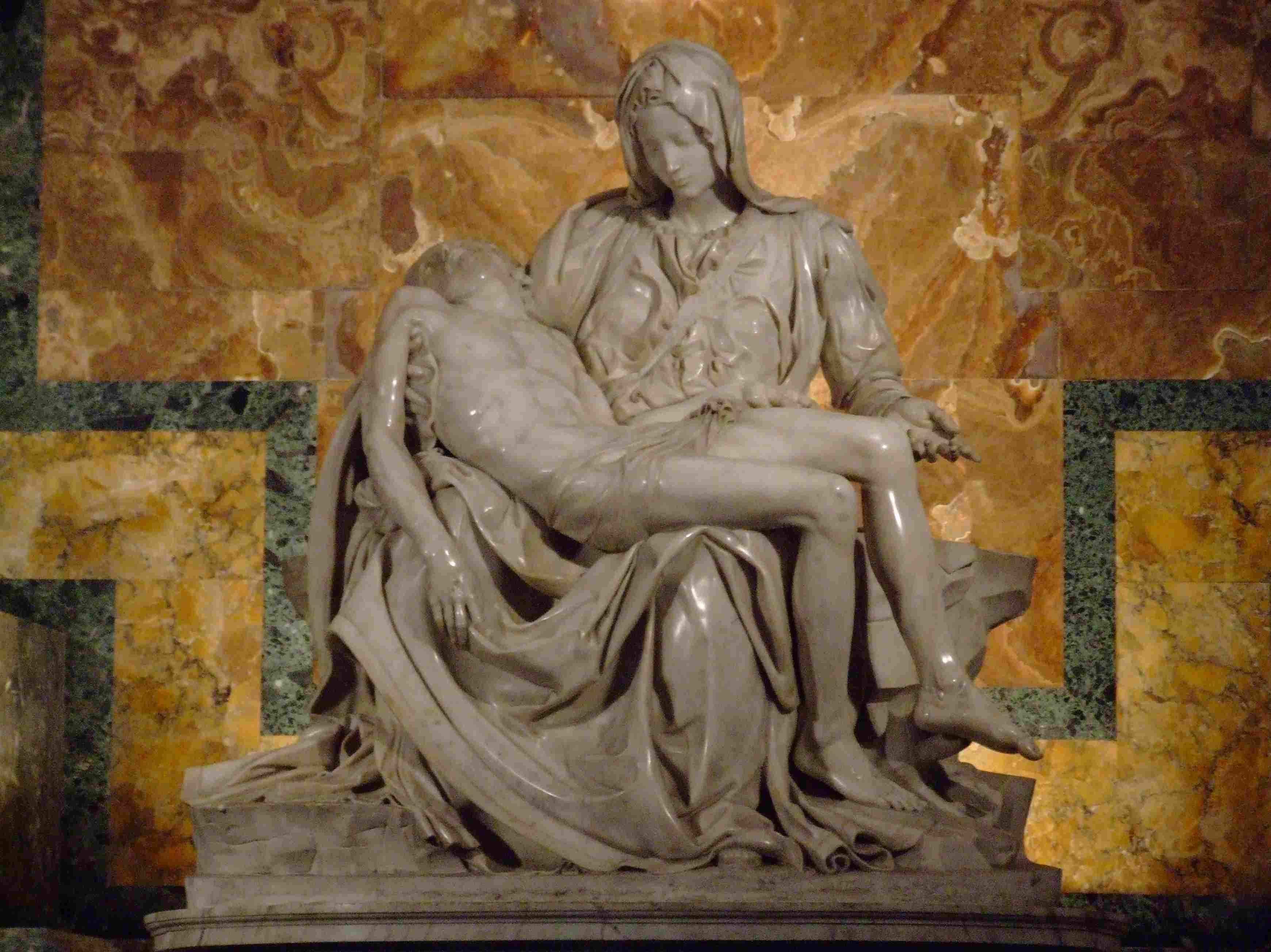 an examination of michelangelos pieta Pieta by michelangelo, st peter's basilica in rome michelangelo's pieta is widely held as his finest work, instantly becoming one of the most revered and studied works of the italian high renaissance.