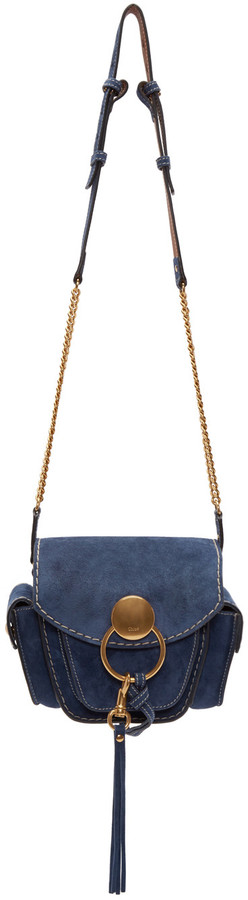 Chloé Navy Suede Small Jodie Camera Bag | #Chic Only #Glamour Always
