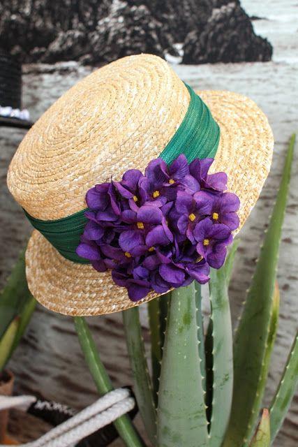 canotier purple flower Flores Flamenca 668522e29df