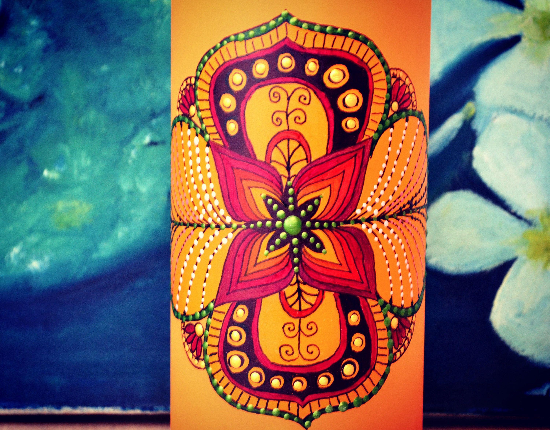 Tavolo Lotus ~ Lotus flower lampada da tavolo in vetro opale decorata a mano
