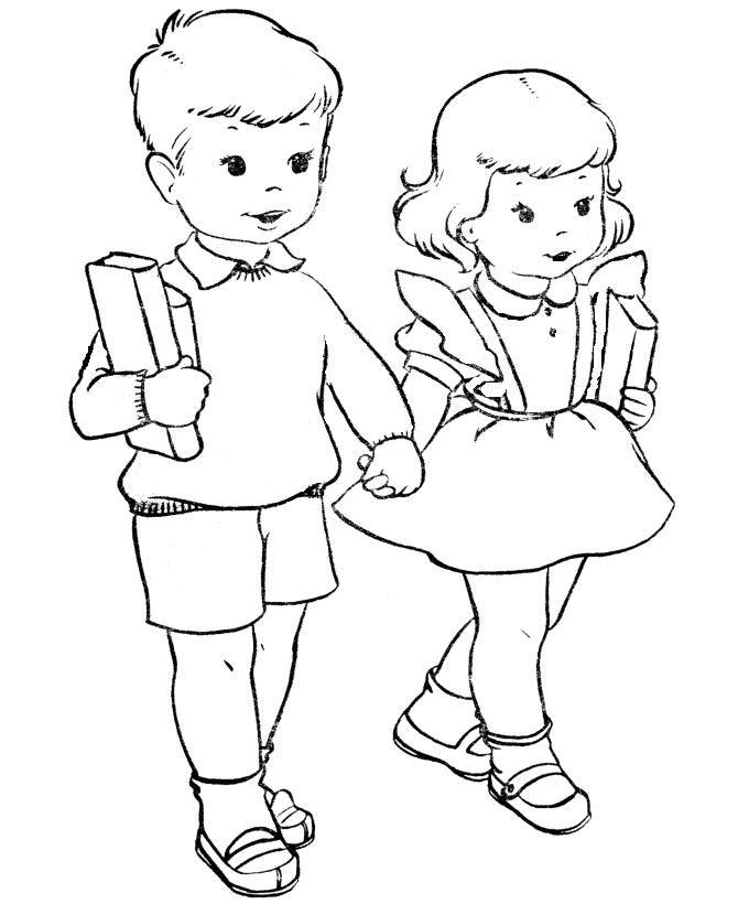 Camino del colegio - Dibujalia - Dibujos para colorear - Elementos ...