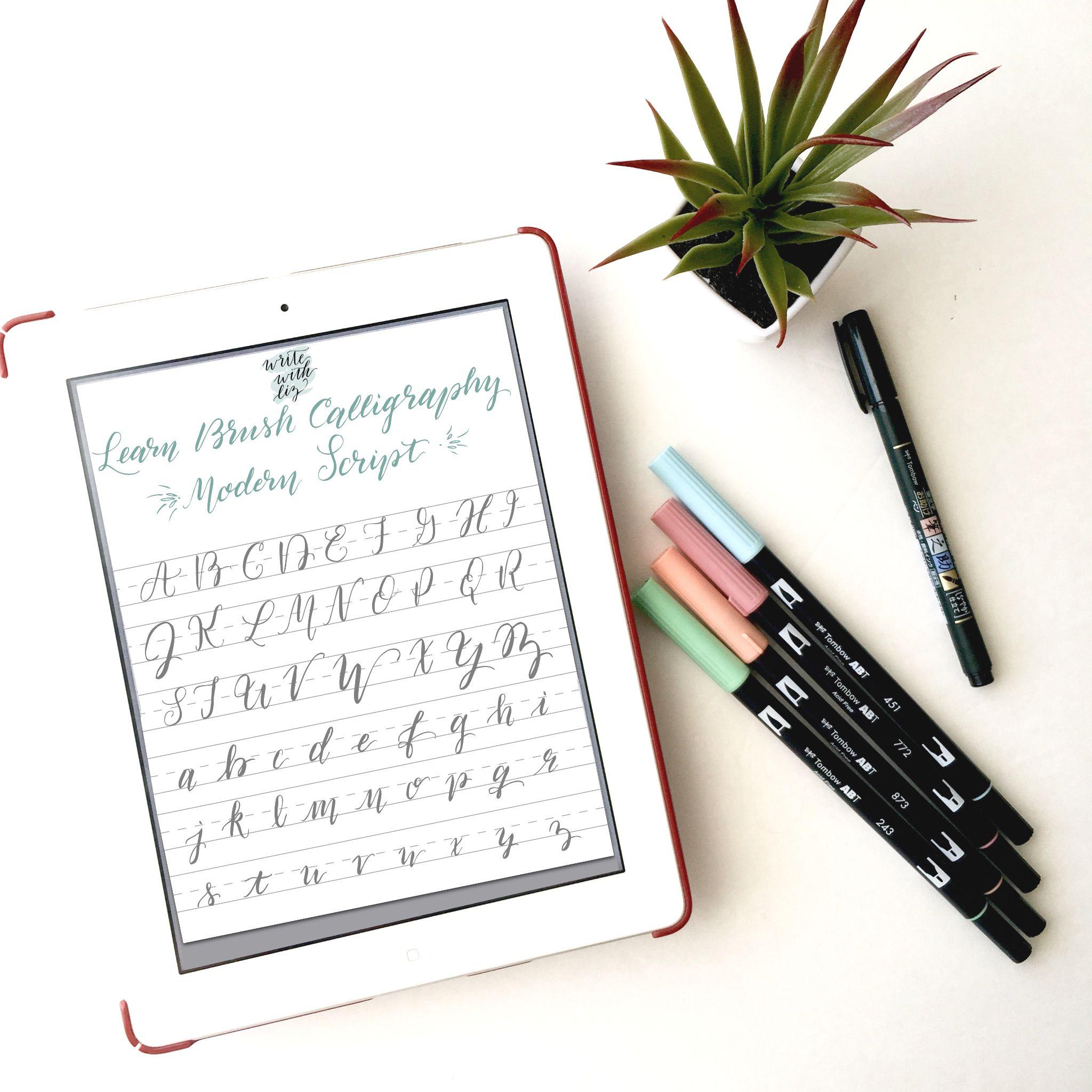 {Free PDF Download} Learn Modern Script Brush Calligraphy