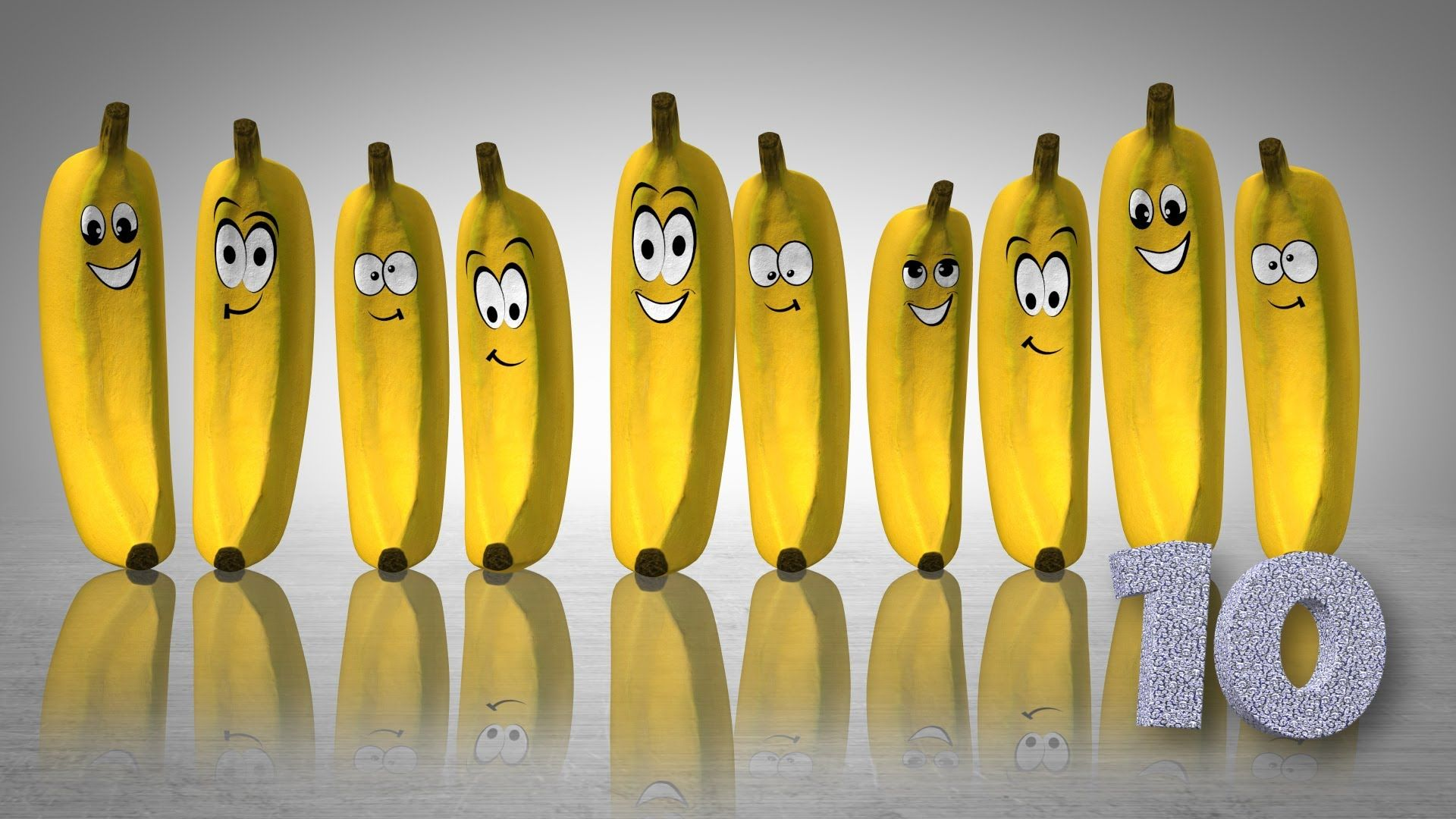 The Ten Bananas Song Funky Fruity Counting From 1 To
