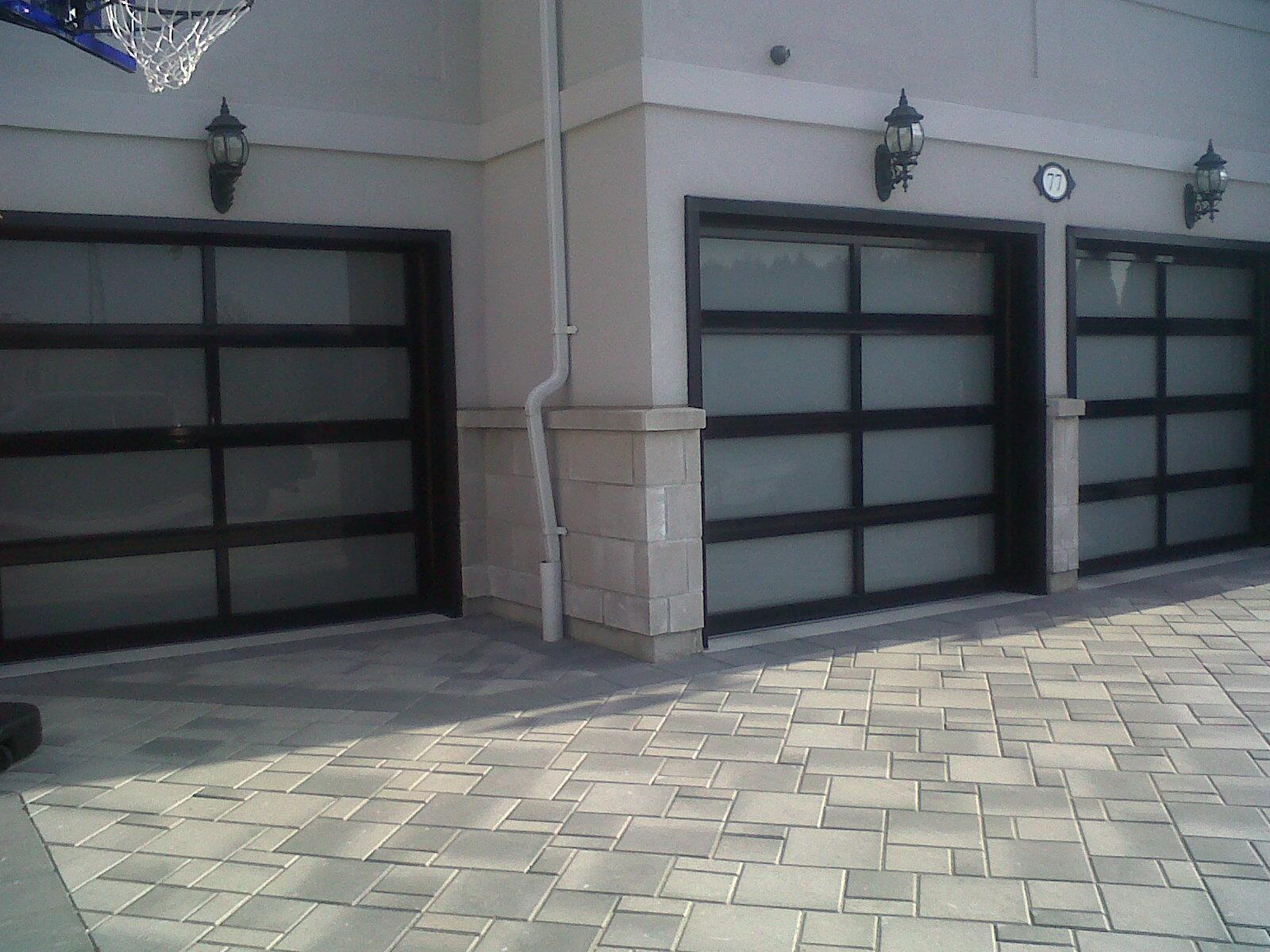 3295 C H I Aluminum Full View Door Powdercoated Black With