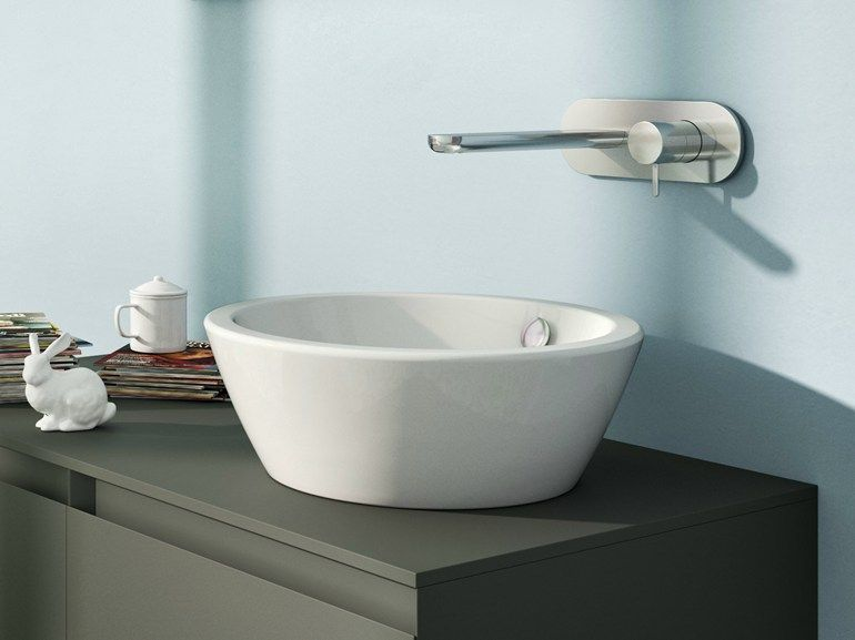 Countertop Round Washbasin Velis 42 By Ceramica Catalano With